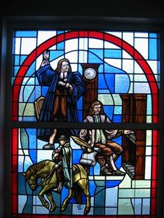 When you enter into the sanctuary of Maples Memorial UMC, you will be surrounded by beautiful stained glass windows. Historically, windows have not only been used as a source of beauty and inspiration, but also as a teaching tool The beauty and the symbolism of the windows helps prepare you for worship. The Wesley Window remembers the founders of Methodism, John Wesley and his hymn-writing brother Charles, and Francis Asbury, whose circuit riding established Methodism in America.