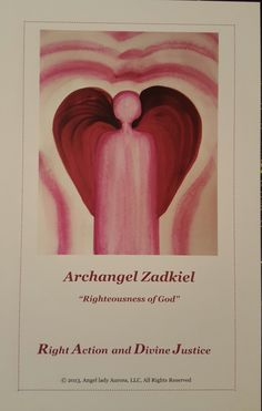 """Archangel Zadkiel """"Righteousness of God"""" a very powerful Angel to call upon when their is a need for Divine Intervention, Divine Justice and Right Action. Archangel Zadkiel, Righteousness Of God, Ms, Action, Messages, Lady, Group Action, Text Posts"""