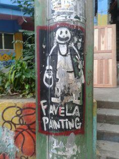 Rio de Janeiro Dona Marta favela's street art