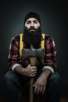 From a cool shoot some guy did of bearded men. Kind of mad he didn't ask me.