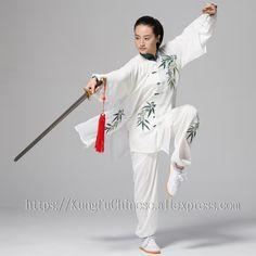 Home Chinese Tai Chi Clothes Martial Arts Suit Taiji Performance Outfit Wushu Uniform For Women Men Children Kids Girl Boy Adults