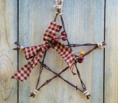 Barbwire Star Ornament Barbed wire by Rusticpatriotgirl on Etsy ~perhaps try this with small twigs
