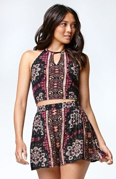 dd741df76f56 Hooked on Floral Crochet Trim Halter Tank Top that I found on the PacSun App