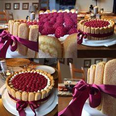 Spolu u stolu: Malinový dort Raspberry Cake, Food Fantasy, Sweet Desserts, No Bake Cake, Waffles, Cheesecake, Cooking, Breakfast, Cakes