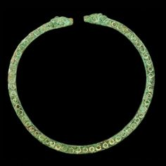 EAST GREEK BRONZE BRACELET, CIRCA 600 - 500 B.C.This elegant band follows the standard decorative style preferred in the 6th century throughout the coastal Mediterranean region of Greece and deep into the East where the Achaemenid Empire (550-300 B.C.) ruled. \ .http://www.aphroditeancientart.com/products/east-greek-bronze-bracelet-circa-600-500-bc