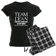 Amazon.com: Team Dean Supernatural Winchester Women's Dark Paj Supernaturaltv Women's Dark Pajamas by CafePress: Clothing