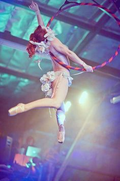 Lovely and simple aerial hoop pose
