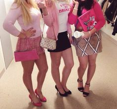Pin for Later: Cheap Halloween Costumes That Will Love Mean Girls Mean Girls Halloween Costumes, Trio Costumes, Mean Girls Costume, Best Friend Halloween Costumes, Trendy Halloween, Halloween Outfits, Powerpuff Girls Costume, Costume Ideas For Friends, Cute Girl Costumes