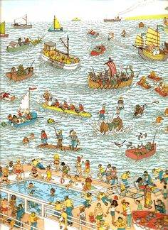 martín hanford Wheres Wally, Illustration, Vintage, Decor, Thinking About You, Brain Games, Book, Riddles, Funny Humor
