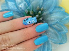 Waterlily Flower Sea Nail Art 2015