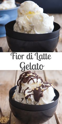 Fior di Latte Gelato Recipe - An Italian in my Kitchen A simple Italian Ice cream made with just three ingredients, milk, cream and sugar. It's also the perfect base for adding your favourite flavour to. Italian Ice Cream, Vegan Ice Cream, Ice Cream Toppings, Ice Cream Recipes, Coffee Gelato Recipe, Spumoni Ice Cream, Frozen Yoghurt, Ice Cream Cookies, Coffee Dessert
