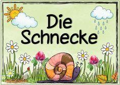"""Ideenreise: Themenplakate """"Die Schnecke"""" und """"Luft"""""""