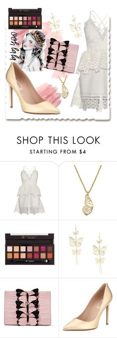 """""""random"""" by andreachidisima ❤ liked on Polyvore featuring self-portrait, Lucky Brand, Anastasia Beverly Hills, Nancy Gonzalez and Valentino"""