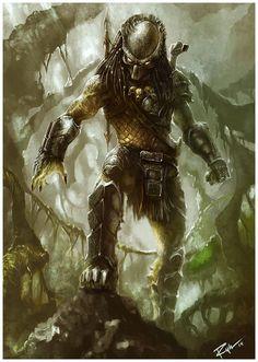 pixelated-nightmares: Predator Wolf by Click. Alien Vs Predator, Wolf Predator, Predator Movie, Predator Alien, Predator Cosplay, Predator Tattoo, Giger Art, Aliens Movie, Alien Creatures