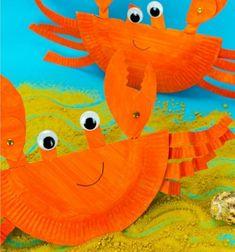 DIY Rocking paper plate crab - summer craft for kids // Hintázó rákok papír tányérból - kreatív nyári ötlet gyerekeknek // Mindy - craft tutorial collection