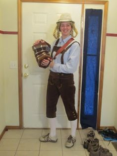 I just wanted an excuse to carry around one of my instruments this Halloween, so I decided to make Lederhosen and go as a member of a polka...