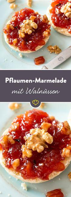 Pflaumen-Walnuss-Marmelade mit Rum