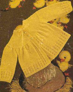 capa de bebé matinee  patrón de punto de bebé vintage  17 - 19 pulgadas el tamaño del pecho  DK, 4 y 3 capas de lana  Descargar Instant PDF