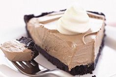 COOL WHIP Chocolate Pudding Pie with Oreo Crust recipe - Popular PIN this month! Looks YUMMY!