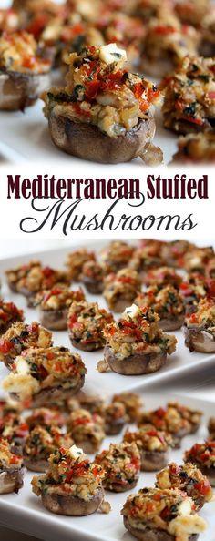 Mediterranean Stuffed Mushrooms                                                                                                                                                                                 More