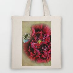 Red Poppy Flower Tote Bag by Fiona & Paul Photography and Digital Art - $18.00