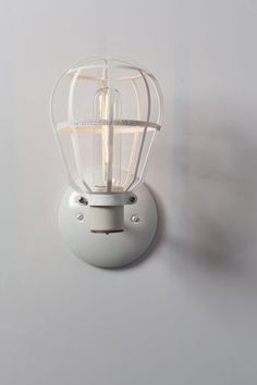 Industrial Lighting Modern Cage Light Wall Mount by IndLights