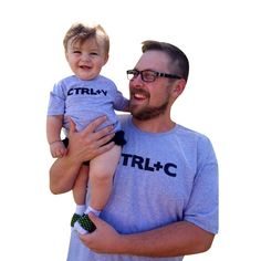 """Father son mather daughter Matching Clothe Cute Print """" Ctrl C + Ctrl V """" Pattern T-shirt Family Wear 2017 Summer Family Look"""