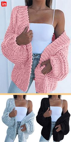Cardigans V Neck Black Blushing Pink Brown Knit Fashion, Fashion Wear, Womens Fashion, Cheap Cardigans, Casual Street Style, Pink Brown, Knitting Designs, Burberry, Women Wear