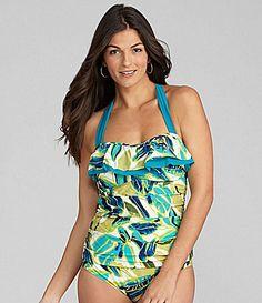 Alex Marie Swim Leaf Ruffle Bandini Top #Dillards
