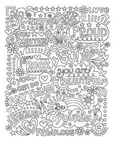 Small Adult Coloring Books Awesome Adult Coloring Page Tremendous Small Coloring Books for Quote Coloring Pages, Printable Adult Coloring Pages, Coloring Pages For Kids, Coloring Books, Coloring Sheets, Colouring Pages For Adults, Notebook Doodles, Color Quotes, Doodle Coloring