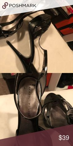 86647294ac1e Marc Fisher Heels EUC Marc Fisher Elegant Patent leather sandals Shoes  Platforms Leather Sandals