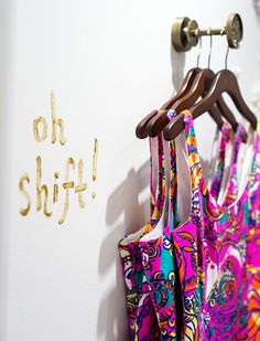Image result for gold rolling rack closet lilly pulitzer store