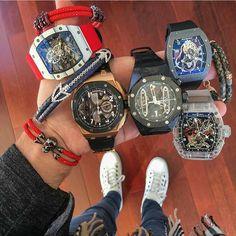 Dream Watches, Sport Watches, Luxury Watches, Cool Watches, Watches For Men, Richard Mille, Patek Philippe, Audemars Piguet, Omega