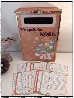 Advent Box: The Christmas Spirit - Engagement Rings Last Christmas, Christmas Crafts, Christmas Decorations, Xmas, Advent Box, Theme Noel, Yule, Holidays And Events, Crafts For Kids