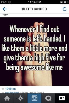 left handed happiness