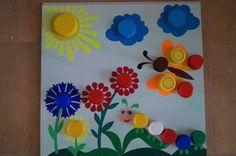 okul öncesi kapaklar ile resim tamamlama etkinlikleri (3)   Evimin Altın Topu