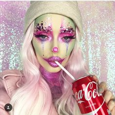 Barbie Clown from http://instagram.com/bellejorden Halloween ; Make-up ; Barbie