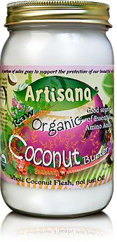 Okay, my friends!  You'll be thanking me BIG TIME for this.  My new favorite thing in the world - Artisana's Coconut Butter.  So amazingly yummy.  (It is NOT the same as coconut oil which is fantastic too.)  I can eat this stuff by the spoonfuls!  It's great in hot chocolate too.  Yummy!  Try it!
