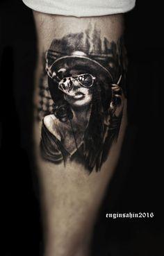 portrait tattoo - portre dövmesi - realistic tattoo - engin şahin