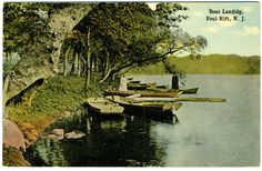 Foul Rift, NJ. Boat Landing - circa 1915 in Collectibles, Postcards, US States, Cities & Towns | eBay