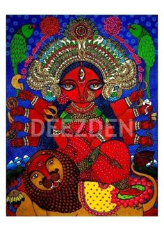 Maa Durga PRINT by Deezden on Etsy