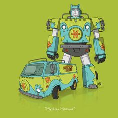 If Famous Vehicles From Movies & TV Were Transformers (12 Pics)