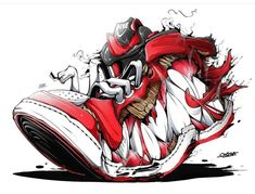 Monster Shoes on Behance Graffiti Drawing, Street Art Graffiti, Art Sketches, Art Drawings, Arte Black, Graffiti Characters, Susanoo, Sneaker Art, Hip Hop Art