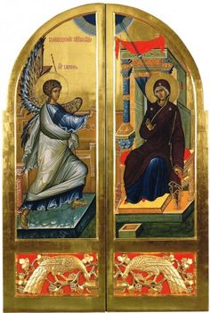 The Royal Doors for the church of St Helena in Saint Petersburg, The model is the classic Annunciation from Ohrid. It just works so well! They were the inspiration for my drawings Royal Doors, Holy Quotes, Byzantine Icons, St Helena, Madonna And Child, Orthodox Icons, Religious Art, Writing Inspiration, Sketches