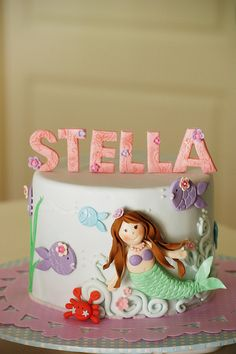 Stella's mermaid cake by baa baa bake, via Flickr