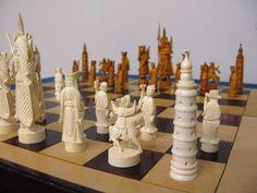 Antique Chinese Ivory Chess Set image 5