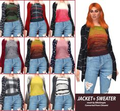 Sims 4 CC's - The Best: HallowSims Jacket+Sweater by Hallowsims