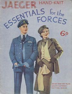 Free knitting patterns - Victoria and Albert Museum - 'Essentials for the Forces' (front cover), Jaeger,
