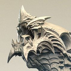 Dragon Bust, Tosh Hsu on ArtStation at https://www.artstation.com/artwork/G6XBz
