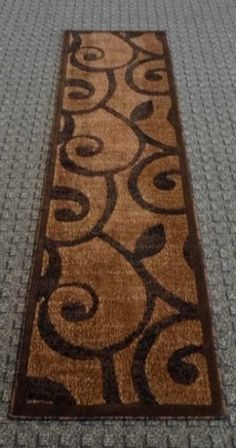 Modern Runner Rug 154 Americana Brown 2 Ft X 7 Ft 3 In >>> Click image for more details. (This is an Amazon Affiliate link and I receive a commission for the sales)